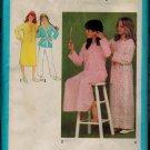 Simplicity 9249 70s NIGHTSHIRT, ROBE, PAJAMAS Vintage Sewing Pattern