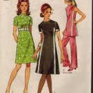 Simplicity 9206 70s Vintage TUNIC, PANTS & DRESS Sewing Pattern MOD