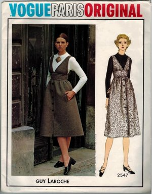 Vogue 2547 70s Vogue Paris Original Guy Laroche JUMPER Vintage Sewing Pattern