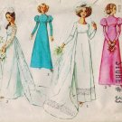 Vintage Wedding Simplicity 8575 70s  Vintage WEDDING DRESS & BRIDESMAID DRESS Sewing Pattern