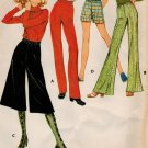 McCall's 2721 70s *UNCUT Retro GAUCHO PANTS Vintage Sewing Pattern W25 1/2