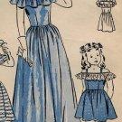 Butterick 4517 40s Girls' DIRNDL SUN DRESS & PARTY DRESS Vintage Sewing Pattern