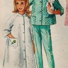 Simplicity 5217 60s Girl's Pretty ROBE, TOP & PANTS Vintage Sewing Pattern *UNCUT & FF