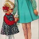 Simplicity 7275 60s Girl's JUMPER & BLOUSE Vintage Sewing Pattern *UNCUT & FF*