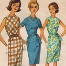 "Vintage 60s *UNCUT/FF Simplicity Pan Am Era ""Jiffy"" DRESS sz 12 Pattern 4840"