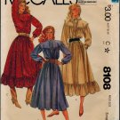 McCall's 8108 80s Gunne Sax DRESS Vintage Sewing Pattern *Uncut & FF*