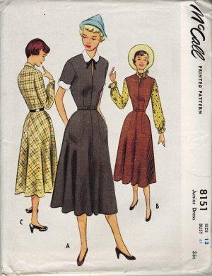 McCall 8151 UNCUT Fabulous 50s DRESS Vintage Sewing Pattern