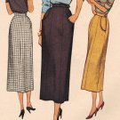 McCall 7897 40s Long Slim  4-panel SKIRT Vintage Sewing Pattern