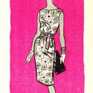 Marian Martin 9411 60s Mail Order Pan Am Era DRESS Vintage Sewing Pattern