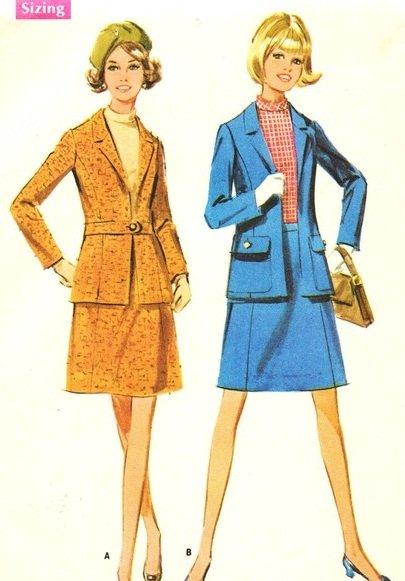 McCall's 9462 60s *UNCUT SUIT w/JACKET SKIRT BLOUSE BELT Vintage Sewing Pattern