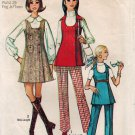 Simplicity 8916 70s Classic MINI-JUMPER & TUNIC & PANTS , Vintage Sewing Pattern