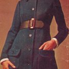 Simplicity 8443 60s Mod Designer Fashion COAT-DRESS Vintage Sewing Pattern