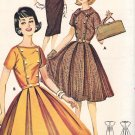 Butterick 9795 60s DRESS with Box Pleats & Double Breasted Vintage Sewing Pattern