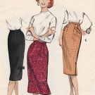 Butterick 8760 50s Wiggle SKIRT in 3 Versions Vintage Sewing Pattern