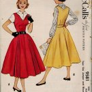 McCall's 9581 50s Retro Teen V-NECK JUMPER w/ funky front pleats, Vintage Sewing Pattern