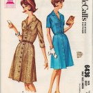 McCall's 6436 60s Half Size SHIRT DRESS with Button Detail Vintage Sewing Pattern