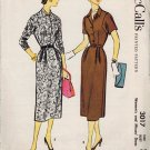 McCall's 3017 50s Town DRESS Vintage Sewing Pattern
