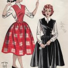 Butterick 6643 50s Retro Apron JUMPER Vintage Sewing Pattern