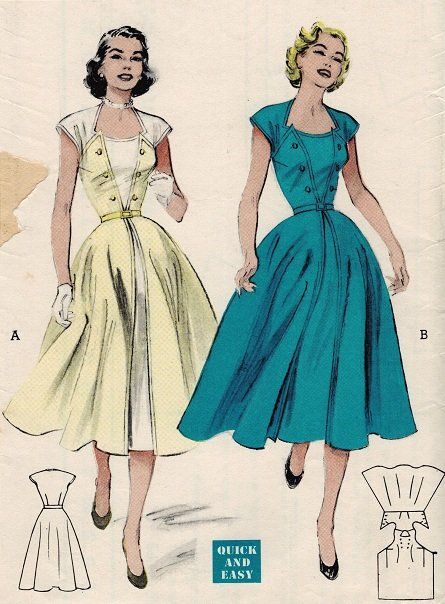 Butterick 6472 50s Wrap Around Walk Away Dress Vintage