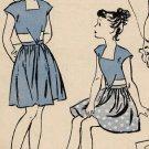 Butterick 3761 40s Girls' Dirndl Skirt PLAYSUIT Vintage children Sewing Pattern