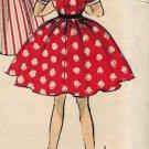 Advance 6492 50s J. Love Designer Girls' DRESS Vestee & Full Skirt Vintage Children's Pattern *UNCUT