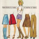 Simplicity 9628 70s Leather Hip-Hugger, SHORT SHORTS, SKIRT. or PANTS Vintage Sewing Pattern