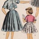Advance 6663 50s Girl's BOLERO & DRESS Vintage Children's Sewing Pattern