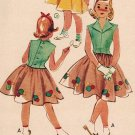 McCall's 8927 50s Girl's Appliqued DRESS *RARE Vintage Sewing Pattern