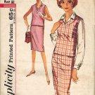 Simplicity 4953 60s Mad Men/Pan Am Slim SKIRT, BLOUSE & TOP Vintage Sewing Pattern