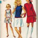 Simplicity 8098 60s *Uncut CULOTTE DRESS & JACKET Vintage Sewing Pattern  FF