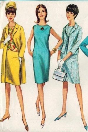 Simplicity 6309 60s Mad Men Era COAT, DRESS or TOP. SKIRT & JACKET Vintage Sewing Pattern