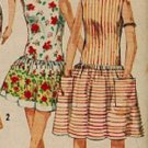 Simplicity 4435 60s Mad Men Beach DRESS, BATHING SUIT, Vintage Sewing Pattern