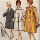 Simplicity 5148 60s*UNCUT  Pan Am Era COAT & SCARF Vintage Sewing Pattern