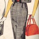 Simplicity 3398 60s Slim Jackie-O Travel DRESS & JACKET Vintage Sewing Pattern