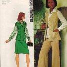 Simplicity 5812 70s *UNCUT WIDE LEG PANTS, VEST, BLOUSE & SKIRT Vintage Sewing Pattern