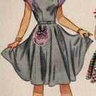 Simplicity 2386 40s Fabulous Girl's DRESS with Super Pocket Detail Vintage Sewing Pattern