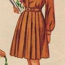 Simplicity 2134 40s Girl's DRESS with Peter Pan Collar & Bishop Sleeves Vintage Sewing Pattern