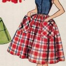 Simplicity 4387 50s Retro Girl's Full Skirt DRESS with turn back Cuffs Vintage Sewing Pattern