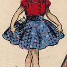 Advance 6174 50s Girl's Flared SKIRT & Buttoned BLOUSE Vintage Sewing Pattern