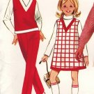 Butterick 4973 60s Girl's A-LINE JUMPER, SKIRT & PANTS Vintage Sewing Pattern * UNCUT & FF