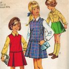 Simplicity 8311 60s Sleek Girl's JUMPER with Inv. PLEAT SKIRT & Blouse &SKIRT Vintage Sewing Pattern