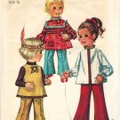 """Simplicity 8522 70s Toddlers' """"Hippie Kids"""" TOP & BELL-BOTTOM PANTS Vintage Sewing Pattern"""