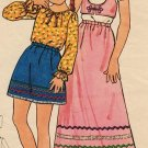 Butterick 6239 70s BoHo/ Peasant BLOUSE, SKIRT & VEST Vintage Sewing Pattern