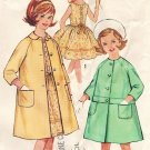 Simplicity 4875 60s Girl's Lined COAT & DRESS Vintage Sewing Pattern