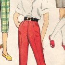 Simplicity 3493 60s Girl's Slim Leg PANTS, Pedal Puchers & Shorts Vintage Sewing Pattern