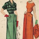 Advance 5197 40s Continental DRESS with Contrast JACKET Vintage Sewing Pattern