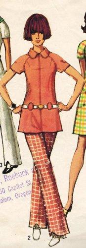 Simplicity 8689 70s Mod DRESS & TUNIC & PANTS Vintage Sewing Pattern