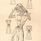 "Anne Adams 4544 40s ""Pretty & Gay"" Mail Order Summer DRESS Vintage Sewing Pattern"