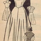 American Weekly 3833 40s Mail Order DRESS Vintage Sewing Pattern