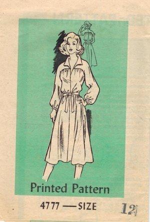 Workbasket 4777 1970s Mail Order Vintage DRESS Sewing Pattern